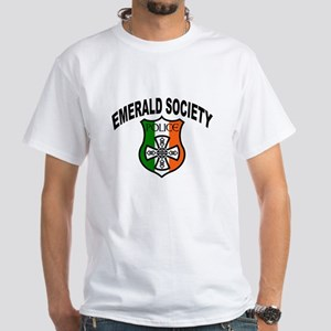 Police Emerald Society White T-Shirt