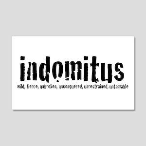 Indomitus Logo 20x12 Wall Peel