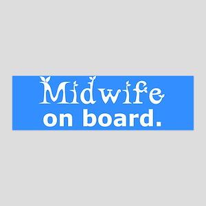 Midwife on Board 36x11 Wall Peel