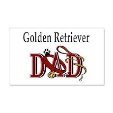 Golden Retriever Dad 20x12 Wall Peel
