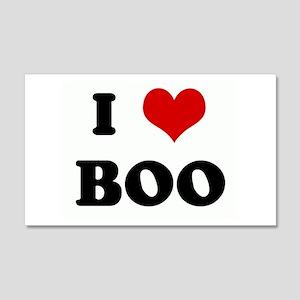 I Love BOO 20x12 Wall Peel