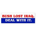 BUSH LOST IRAQ. Bumper Sticker