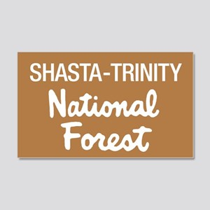 Shasta-Trinity National Forest (Sign) Sticker (Rec