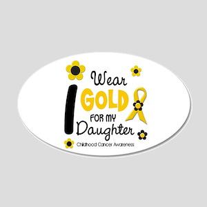 I Wear Gold 12 Daughter CHILD CANCER Sticker (Oval