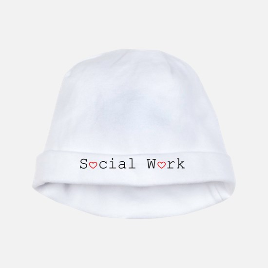 Social Work Hearts baby hat