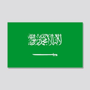 Saudi Arabia World Flag 20x12 Wall Peel
