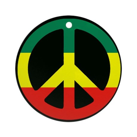 PEACE SIGN REGGAE Ornament (Round)