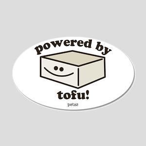 Powered by Tofu 20x12 Oval Wall Peel
