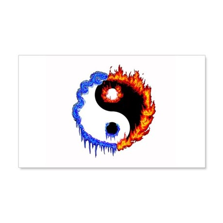 Ying Yang Ice and Fire 20x12 Wall Peel