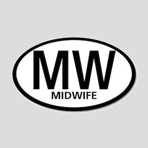 Midwife Black Oval 20x12 Oval Wall Peel