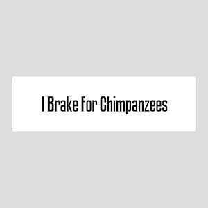 I Brake For Chimpanzees 36x11 Wall Peel