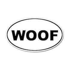 WOOF Dog Euro 20x12 Oval Wall Peel