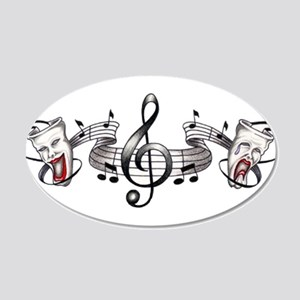 Theater and Music 20x12 Oval Wall Peel