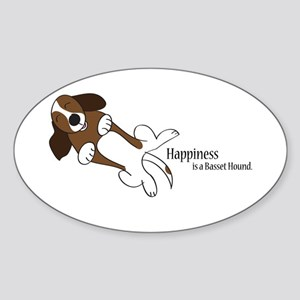 Basset Love Sticker (Oval)