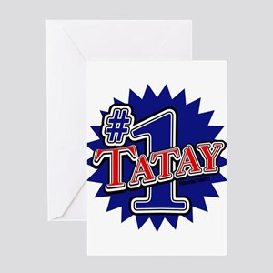Number 1 Tatay Greeting Card