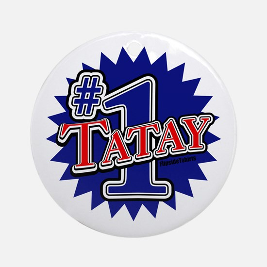 Number 1 Tatay Ornament (Round)