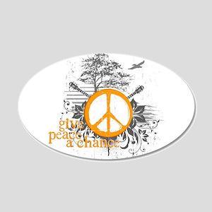 Give Peace Scene - Orange 20x12 Oval Wall Peel