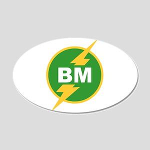BM Best Man 20x12 Oval Wall Peel