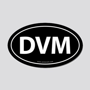 DVM Euro Style Auto 20x12 Oval Wall Peel -Black