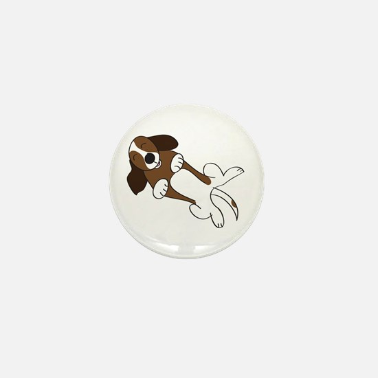 Happiness is a Basset Hound Mini Button