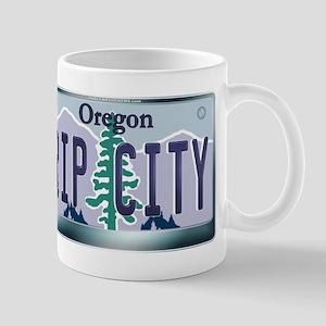 """RIP CITY"" Oregon License Plate Mug"