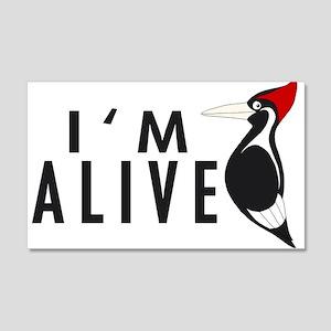 I'm Alive -- Woodpecker 20x12 Wall Peel