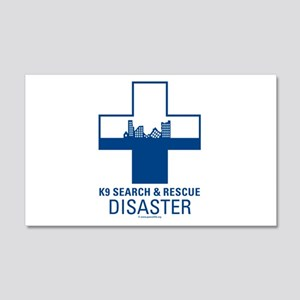 K9 Crosses - Disaster Search 20x12 Wall Peel