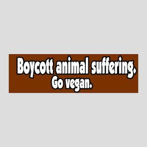 Boycott Animal Suffering Vegan 36x11 Wall Peel