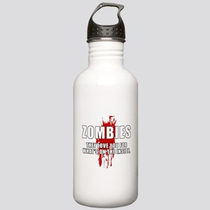 Zombie Humor (Love) Stainless Water Bottle 1.0L