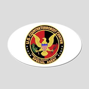 U.S. Counter Terrorist Center 20x12 Oval Wall Peel