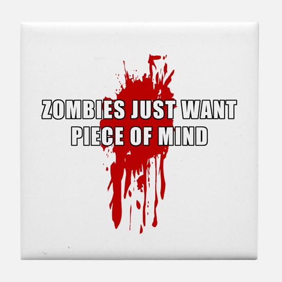 Zombie Humor (Mind) Tile Coaster