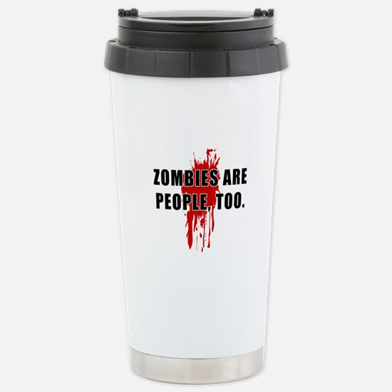 Zombie Humor (People) Stainless Steel Travel Mug