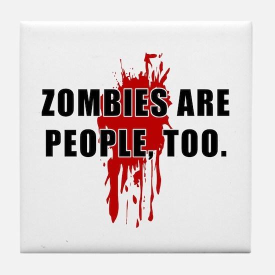 Zombie Humor (People) Tile Coaster