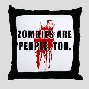 Zombie Humor (People) Throw Pillow