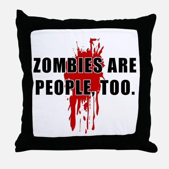 Zombie Humor (People) Throw Pillow