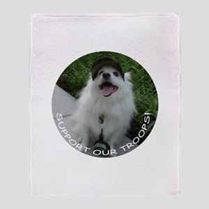 American Eskimo Dog Throw Blanket