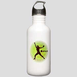 iPitch Fastpitch Softball Stainless Water Bottle 1