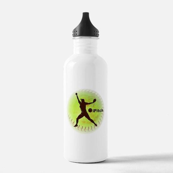 iPitch Fastpitch Softball Water Bottle
