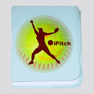 iPitch Fastpitch Softball baby blanket