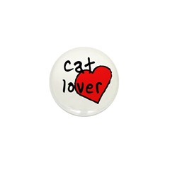 cat lover Mini Button (10 pack)
