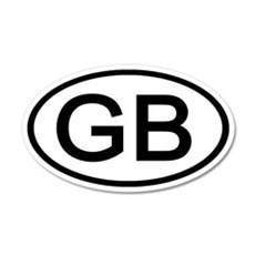 Great Britain - GB Oval 20x12 Oval Wall Peel