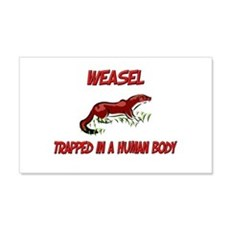 Weasel trapped in a human body 20x12 Wall Peel