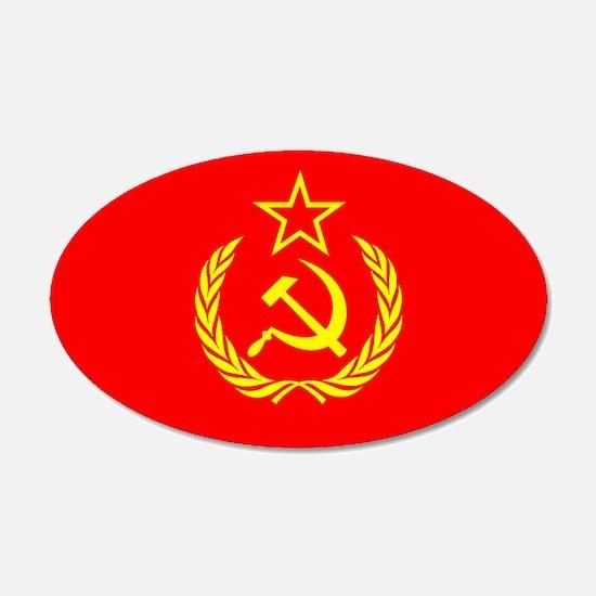 New USSR Flag 20x12 Oval Wall Peel