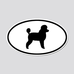 Toy Poodle 20x12 Oval Wall Peel