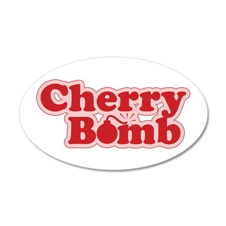 Cherry Bomb 35x21 Oval Wall Peel