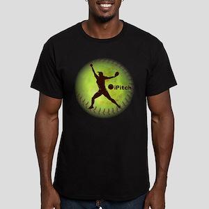 iPitch Fastpitch Softball Men's Fitted T-Shirt (da