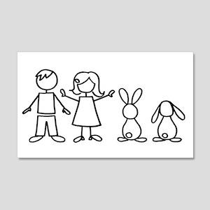 2 bunnies family 20x12 Wall Peel