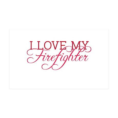 I love my firefighter 35x21 Wall Peel