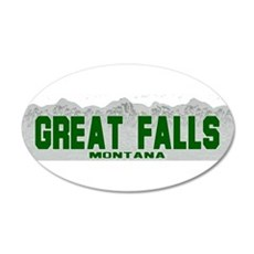 Great Falls, Montana 20x12 Oval Wall Peel