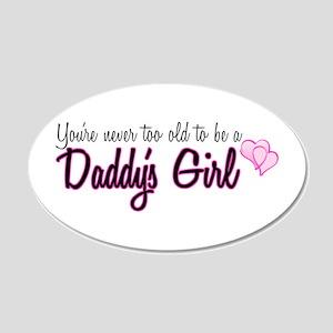 Daddy's Girl 20x12 Oval Wall Peel